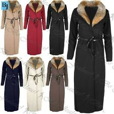 Womens Ladies Long Sleeve Open Collar Tie Belt Cape Cardigan Top Duster Coat