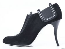 "new $1095 MANOLO BLAHNIK ""Peresil"" black suede ANKLE BOOTS booties - AMAZING"