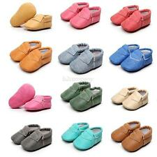 Baby Soft Sole Leather Shoes Toddler Infant Boy Girl Tassel Anti-slip Prewalkers