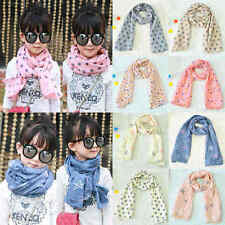 New Fashion Dot Children Printed Cotton Baby Neck Scarf Girl Scarf Shawl Gift