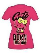 NWT Sanrio Hello Kitty Pink Cute Born This Way Lady Gaga Bow T-shirt S