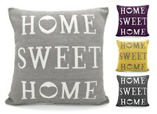 Chenille Cushion Covers 43x43cm Home Sweet Home Scatter Cushions Red Black Grey