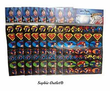 SUPERMAN Kids STICKER SHEETS Party Favors Bag Fillers Pinata Logo Stickers Gift