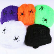 Bar Party Haunted House Halloween Decoration Prop Stretchy Spider Web Colorful