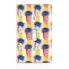 Vintage Pineapple with Yellow Stripe Wall Plate Toggle Decor Switch Plate Cover