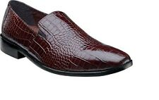 Stacy adams Mens shoes GALINDO Cognac crocodile print leather loafer 24996-221