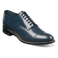 Original Stacy Adams Biscuit Toe shoes  leather Madison cap toe Navy Blue  00012
