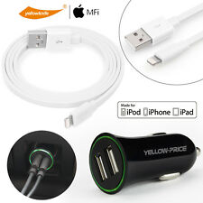 Metal Braided USB SYNC Data Cable Charger iPod Touch iPad mini+USB car charger