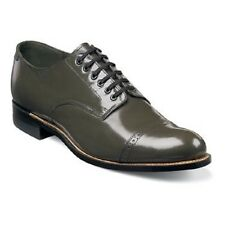 Original Stacy Adams Biscuit mens shoes Olive  leather Madison cap toe 00012-04