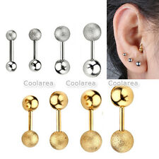 8x 16g Stainless Steel Barbell Cartilage Helix Tragus Sparkle Ear Studs Earring