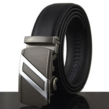 Mens' Luxury Leather Waistband Designer Belt Automatic Buckle Waist Strap Belts
