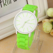 Women Men Silicone Rubber Jelly Gel Watch Quartz Sports Teenager Wrist Watches