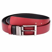 Reversible Belts for Men Womens belts Marsala red Black leather by Capo Pelle