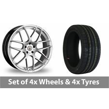 "4 x 20"" Cades Bern Accent Silver Alloy Wheel Rims and Tyres -  255/35/20"