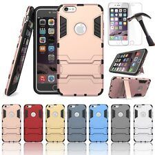 Anti Shock KickStand Durable Hybrid Hard PC Case Back Cover For Apple iPhone