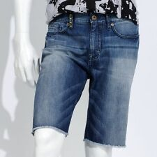 Mens Authentic Icon Cutoff Denim Blue Jean Shorts  30 32 33 34 36 38 40 NEW $58