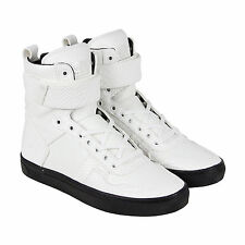 Radii Vertex Mens White Leather High Top Lace Up Sneakers Shoes