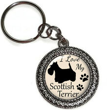 Key Ring I LOVE MY SCOTTISH TERRIER Dog Breed Purse Charm Key Chain Handmade USA