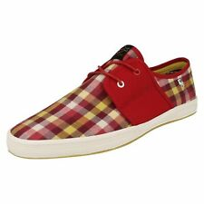 Base London Spam 2 Fish n Chips Mens Picnic Check Red Shoes (R17B)