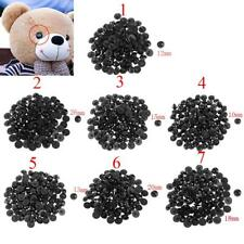 100pcs Round Mushroom Button Domed Sewing DIY Animal Eyes Doll DIY Craft Black