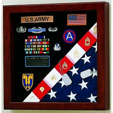 Burial Flag Medals Display case American Made Hand Made By Veterans