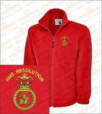 HMS RESOLUTION Crested Embroidered Fleeces