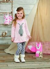Mud Pie Girls Cottontails Collection Bunny Sweater Top and Tights Set Easter