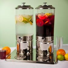 Beverage Dispenser Double Choice 3.7 Gallon Stainless Steel/Wood