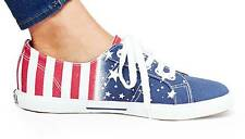 SUPERGA ITALIAN GIRLS SHOES / FLAG RED WHITE BLUE LOW TOP SNEAKES / WOMENS NWT!