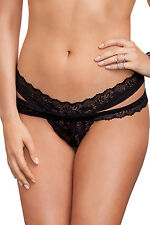 woman sexy  fashion Black Scalloped Lace Thong lingerie underwear new hot