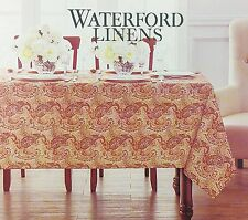 Waterford Paisley Tablecloth Cinnabar 100% Cotton  Easy Care 70 Round