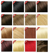 190g 10pcs Deluxe Thick Virgin 100%Real Human Hair Remy Clip In Hair Extensions