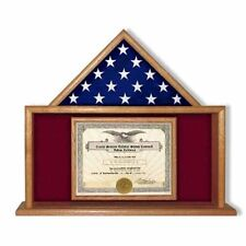 USMC Flag Certificate Display Case Hand Made By Veterans