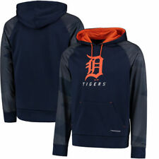Detroit Tigers Majestic Armor II Tonal Therma Base Pullover Hoodie - Navy - MLB