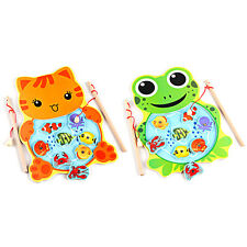 Kids Funny Magnetic Fishing Game Board Wooden Jigsaw Puzzle Educational Toys 4A