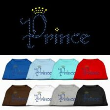 Prince Rhinestone Studded Cotton Dog T-Shirt Tee Clothes - Dogs, Puppy