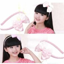 Fashion Girls Kids Cute Flower Headband HairBand Pink Red Sweet Hair Accessories