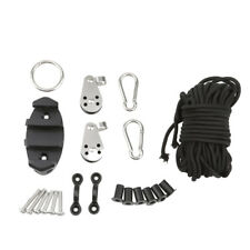 Kayak Canoe Anchor Trolley Kit System Well Nuts Pulley Ropes Accessories