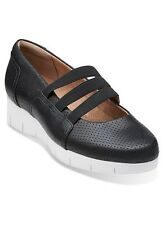 Clarks Ladies  Daelyn City black leather Wedge Slip On Shoes various sizes