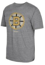 "Boston Bruins CCM ""Retro Logo Alternate"" Distressed Tri-Blend Gray T-Shirt"