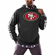 San Francisco 49ers Majestic Solid Enough Pullover Hoodie - Black - NFL