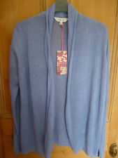 RRP £67 LADIES EAST SIZE 10 BLUE PURE LINEN STRETCH CARDIGAN TAGS FREE POSTAGE