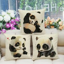 "Xmas Present Home Decor Zip Cute Panda Cotton Linen Cushion Cover 45cm/18"" T"