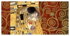 The Kiss (gold montage) Art Print by Klimt, Gustav