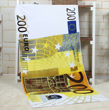 Printed Bath Towel Quick-Dry Plain Beach Towel Lightweight for Travelling
