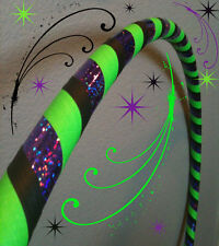 Beetlejuice DANCE & EXERCISE Hula Hoop COLLAPSIBLE green black PUSH BUTTON