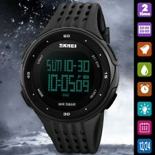 Mens Waterproof Date Digital Sports Wrist Watch Army Military Fashion LED Quartz