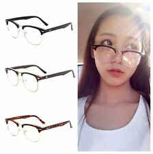 Fashion Half Frame Vintage Retro Clear Lens Glasses Nerd Geek Eyewear Eyeglasses