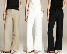 BANANA REPUBLIC WOMEN'S WIDE LEG LINEN PANTS $79.50 NEW   14 PETITE