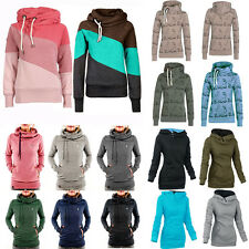 Womens Winter Turtleneck Jumper Tops Pullover Hoodie Hoody Coat Jacket Outerwear